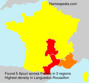 Surname Ajouri in France