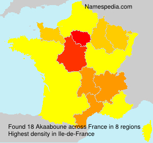 Surname Akaaboune in France