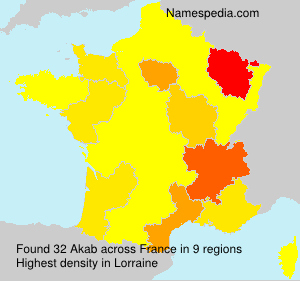 Surname Akab in France