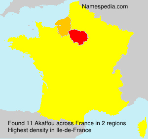 Surname Akaffou in France
