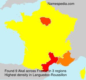Familiennamen Akal - France