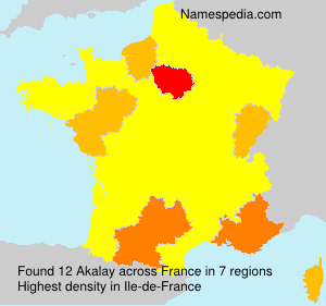 Surname Akalay in France