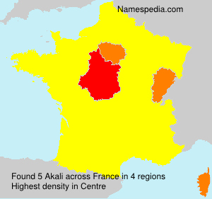 Surname Akali in France