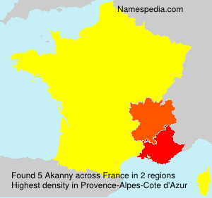 Surname Akanny in France
