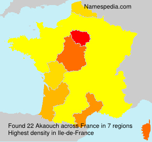 Surname Akaouch in France