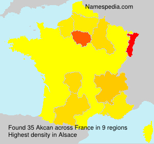 Surname Akcan in France