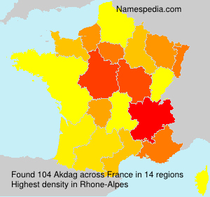 Surname Akdag in France