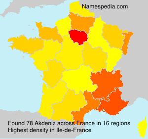 Surname Akdeniz in France