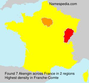 Familiennamen Akengin - France
