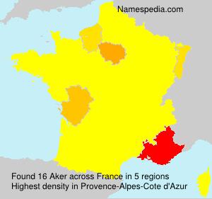 Familiennamen Aker - France