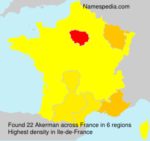 Surname Akerman in France