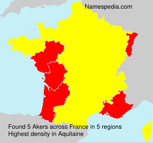 Surname Akers in France