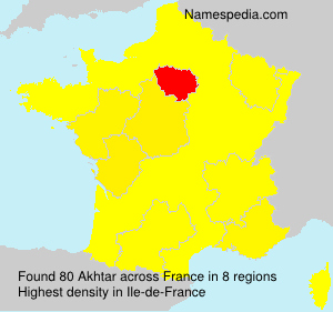 Surname Akhtar in France