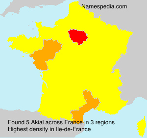 Surname Akial in France