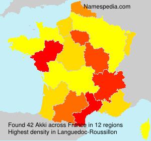 Surname Akki in France