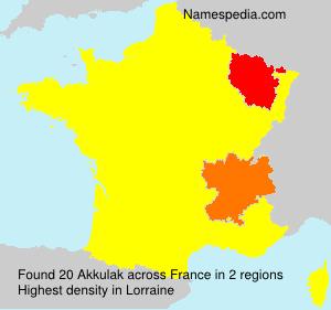 Familiennamen Akkulak - France