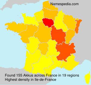 Surname Akkus in France