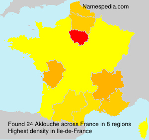Surname Aklouche in France