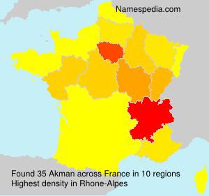 Surname Akman in France