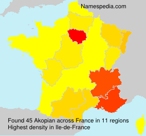 Surname Akopian in France