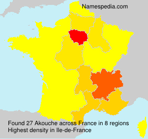 Surname Akouche in France
