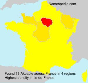 Surname Akpabie in France
