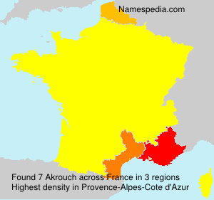 Surname Akrouch in France