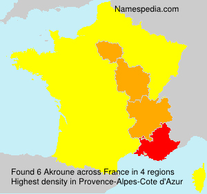 Surname Akroune in France