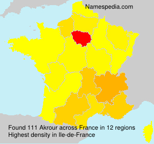 Surname Akrour in France