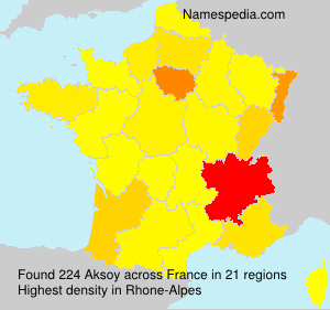 Surname Aksoy in France