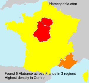 Surname Alabarce in France