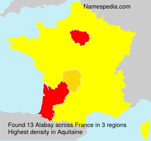 Surname Alabay in France