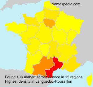 Surname Alabert in France