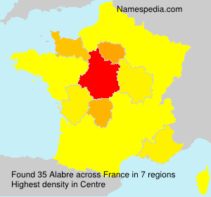 Surname Alabre in France