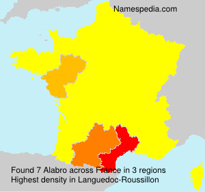 Surname Alabro in France