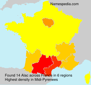 Surname Alac in France