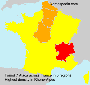 Surname Alaca in France
