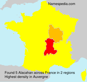 Surname Alacahan in France