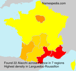 Surname Alacchi in France