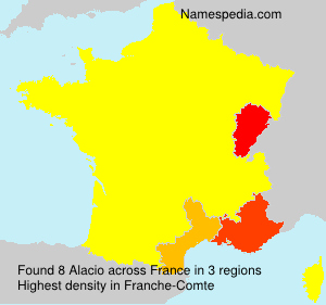 Surname Alacio in France