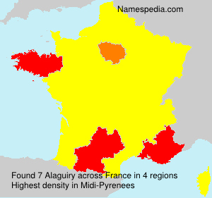 Surname Alaguiry in France