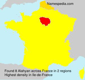 Surname Alahyan in France