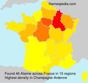 Familiennamen Alaime - France