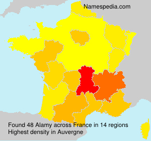 Surname Alamy in France