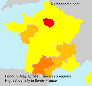 Surname Alay in France