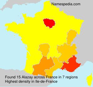 Familiennamen Alazay - France