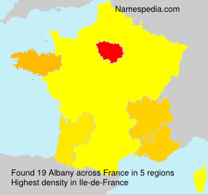 Surname Albany in France