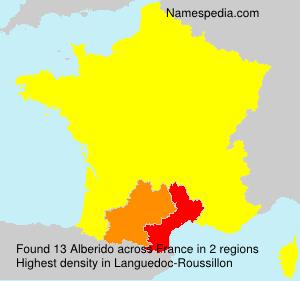Surname Alberido in France