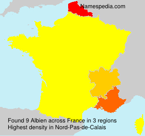 Surname Albien in France