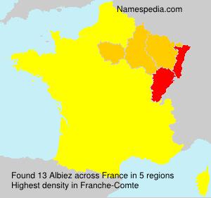 Surname Albiez in France